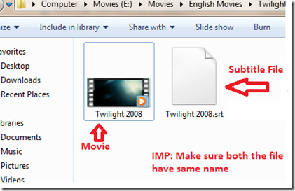 How to watch movie with subtitle