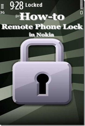 Remote phone lock in Nokia