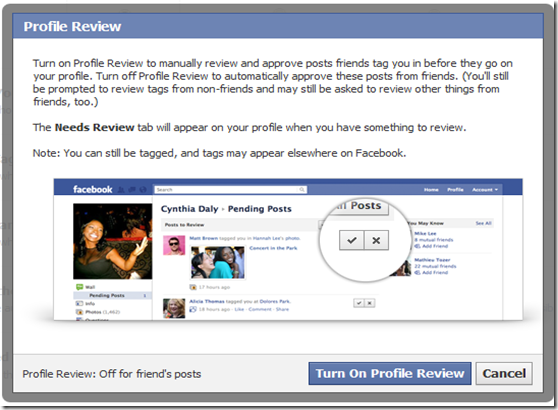 facebook Profile review