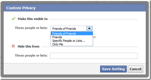 lock down facebook custom privacy
