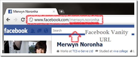 how to set facebook vanity url