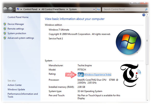 Change Windows 7 Experience Index