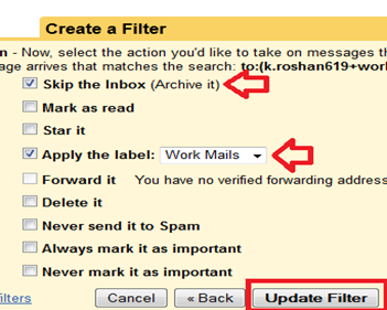 create gmail filters