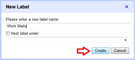 create label in gmail