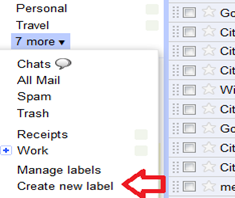 create new label in gmail