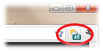 weather report in chrome