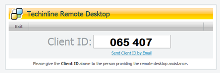 Techinline Remote Desktop Client ID