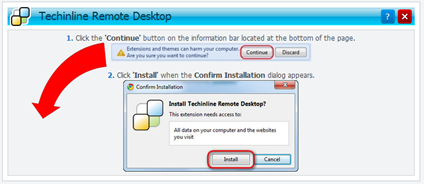 Techinline Remote Desktop on chrome