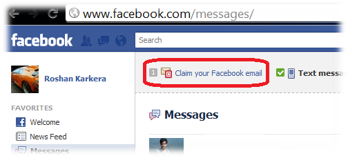 Claim your facebook email