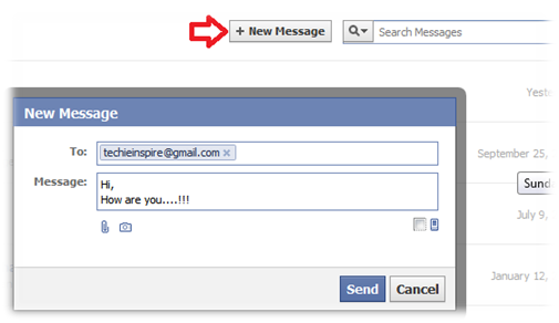 Send facebook mail