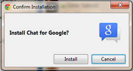 Install chat for google