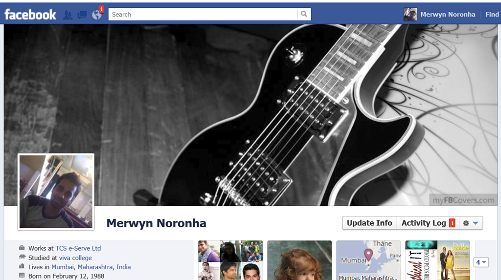 How to add cover page on Facebook Timeline