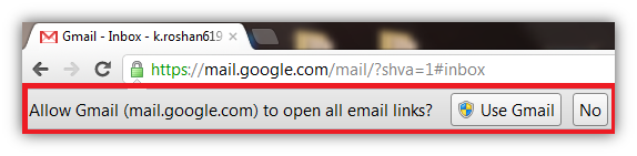 Open E-mail link directly in Gmail