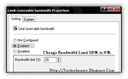 Limit Reservable bandwidth