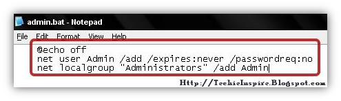 Create Admin Account in Windows