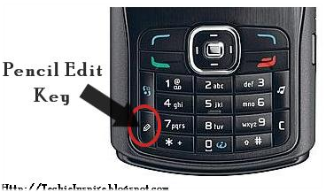 Pencil Edit Key In Nokia