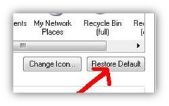 Restore windows xp icon