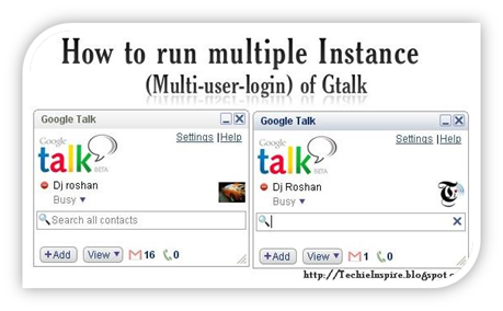Multiple Instance of Gtalk