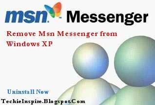 uninstall Msn Messenger