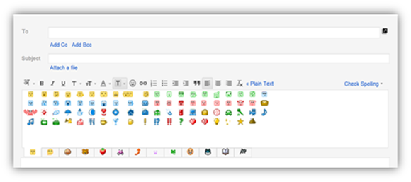 emoticons in gmail
