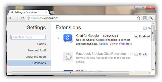 Chrome://extensions