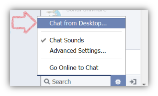 Chat from Desktop