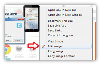 How to Quickly Edit an Image from Firefox using Pixlr Image