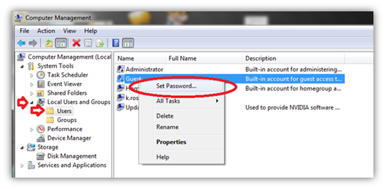 Reset Windows Password via Another User Login