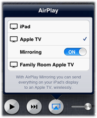 Use Airplay ipad mirror