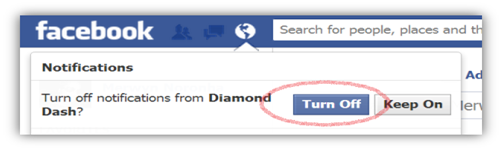Turn off Facebook Notifications