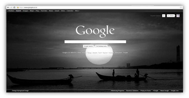 change Google Homepage Background