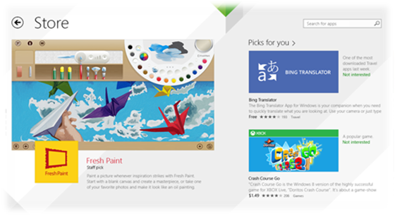 Updated Windows Store in Windows 8.1
