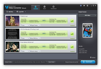 Video conversion in Wondershare Video Converter Ultimate