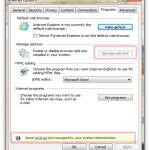 How to Enable Manage Add-on grayed out button in IE