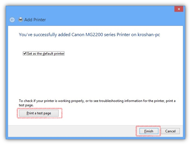 how to connect printer to two computers