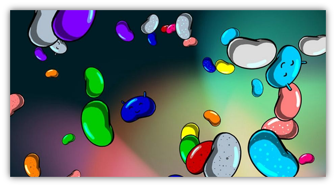 Android 4.1 Jelly Beans flotting Easter eggs