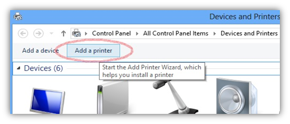 access shared printer on remote system