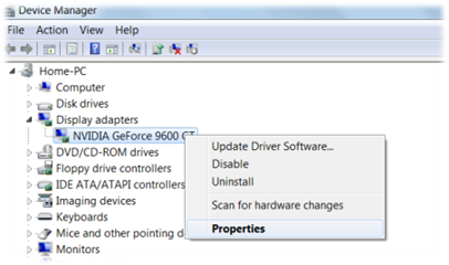 Check driver version in Device Manager