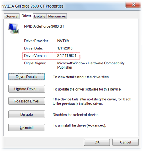 Find Driver Version Number for Devices or Hardware in Windows