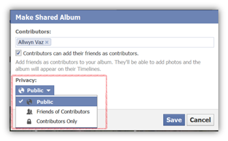 Shared Photo Albums Privacy options