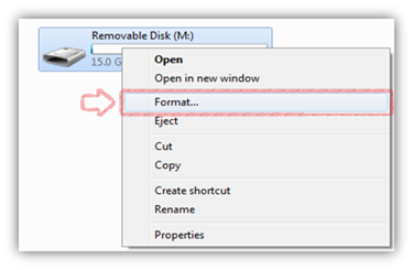 Format Drive with NTFS