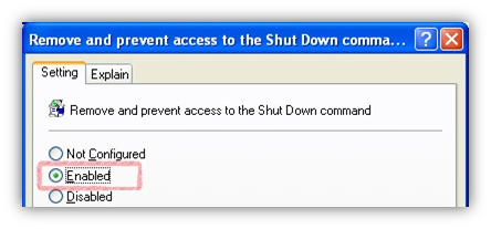 Remove & prevent access to shutdown command