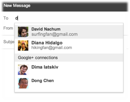 Send Email to any person in your Google +