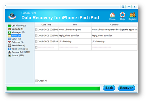 Backup data to recover