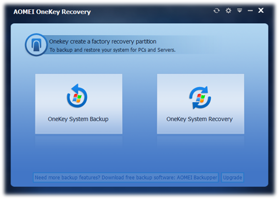 AOMEI OneKey Recovery